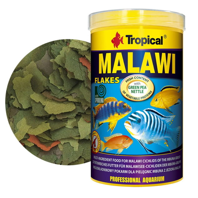 Alimentos cíclidos de Malawi del grupo mbuna