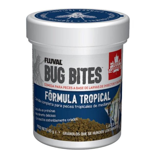 Fluval bug bites gránulos fórmula tropical