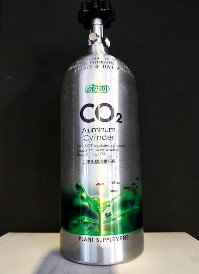 Botella de CO2 2L recargable para acuarios 2